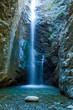 Leinwanddruck Bild - Chantara Waterfalls in Trodos mountains, Cyprus