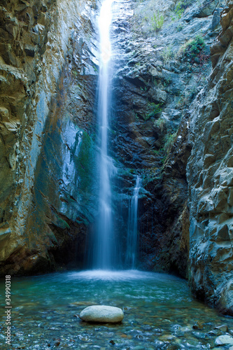 Chantara Waterfalls in Trodos mountains, Cyprus - 34990318