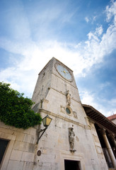 Clock tower in Trogir, Croatia