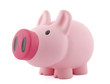 Big piggy bank with clipping path