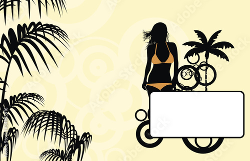 tropical hawaii girl background08
