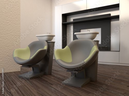 Professional beauty salon interior