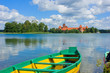 Lake Galve in Trakai, Lithuania