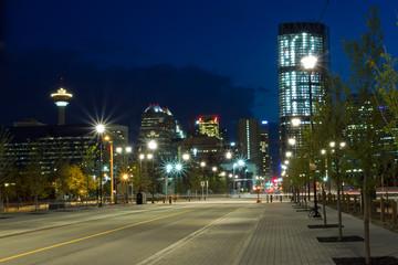 Calgary at night, Canada