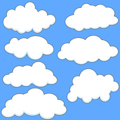 Comic Style Clouds