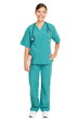 Nurse standing smiling isolated