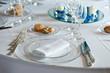 wedding table set for dinner