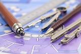Architecture plan of interior & work tools - 34999732