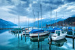 Boats on Lake Thun.