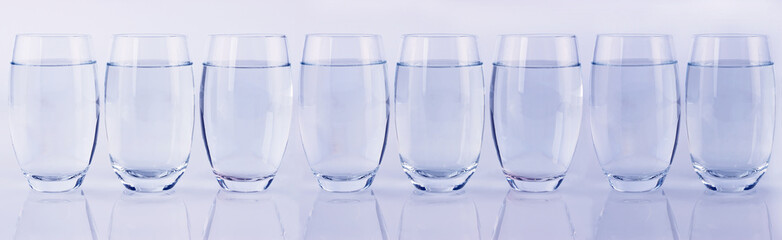 Eight glasses of water