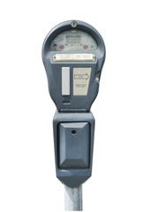 Parking meter, isolated