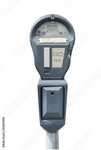Leinwandbild Motiv Parking meter, isolated