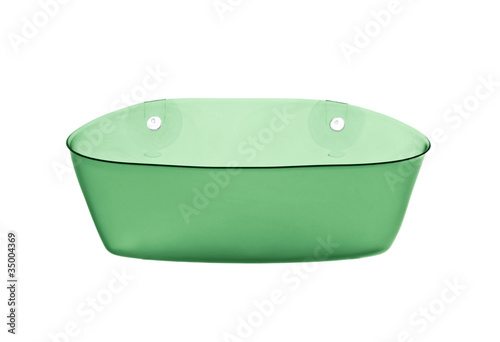 green basin isolated over white