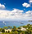 Mittelmeerküste. Schöne Landschaft bei Nizza auf Cote d'Azur