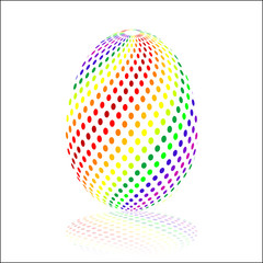 colorful Jigsaw Easter egg