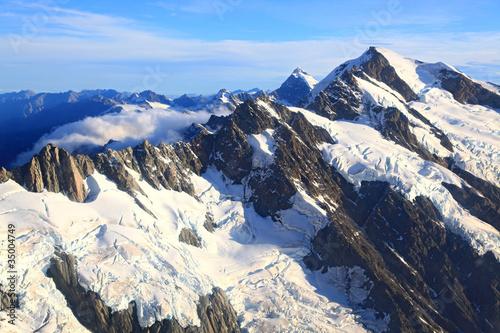 Mountain Cook Peak New Zealand