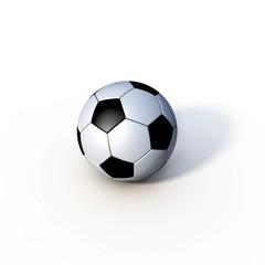 Fussball freigestellt liegend Schatten 2012