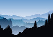 Berge im blauen Dunst