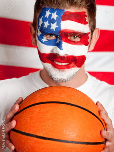 American basketball fan