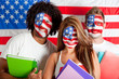 Group of American students