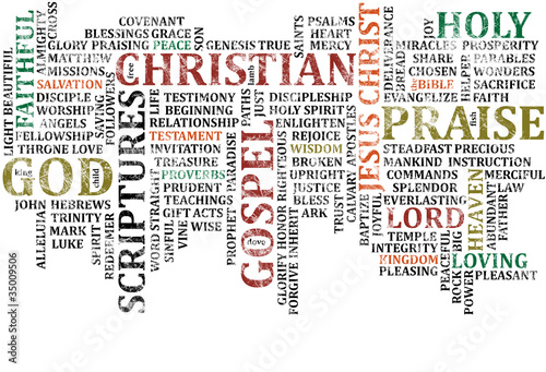 Christian Word COllage