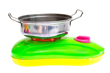 Child plastic pot cooking toy
