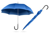 set of umbrella isolated on white background