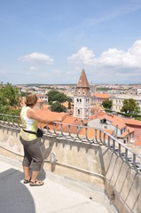 Blick vom Kapetanova-Turm auf Zadar