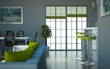 Wohndesign - Loft grün grau