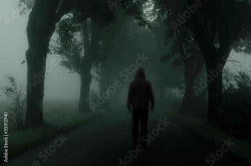 Leinwandbild Motiv dark silhouette