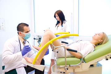 A gynecological examination