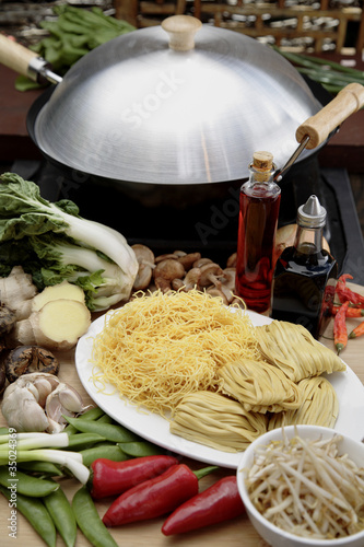 """Wok, noodles and vegetables"""