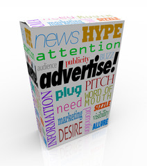 Advertise Marketing Words on Product Box for Sale