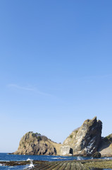 佐井村の願掛け岩