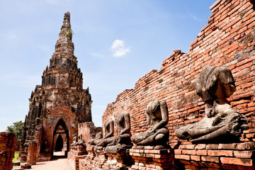 buddha image in ancient temple, ayutthaya, thailand
