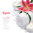 Spa setting with lily flower - 35028384