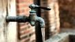Brunnen mit Wasserhahn
