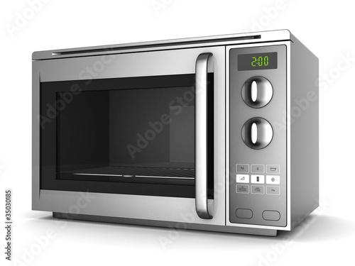 Leinwandbild Motiv Image of the microwave oven on a white background