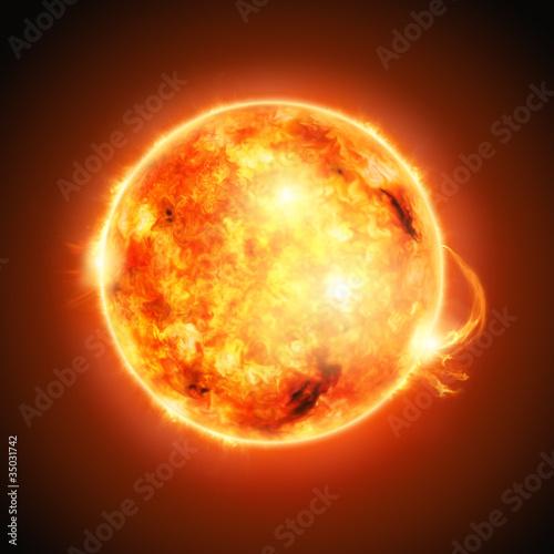 Fototapete Astronomy - Sonnenstrom - Hintergrund