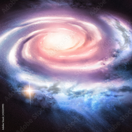 Fototapeta Light Years Away - Distant spiral galaxy.