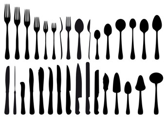 cutlery set, vector
