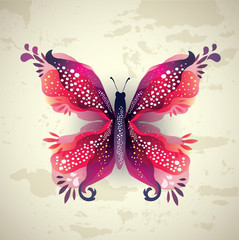 Colorful Butterfy/Grunge Background