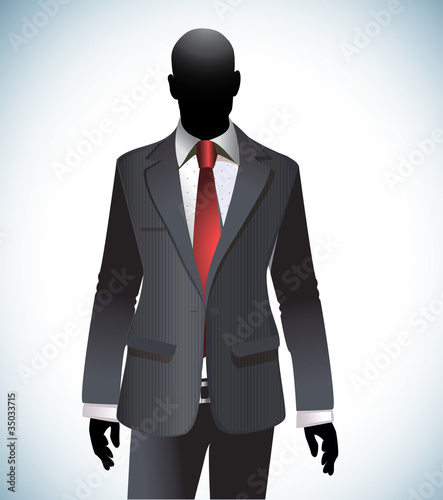 Man Silhouette Wearing Suit and Tie