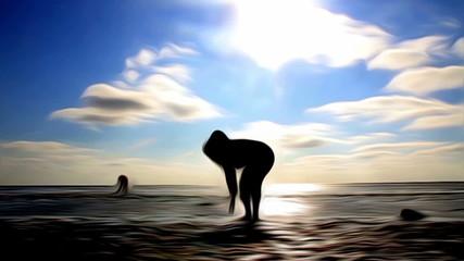 Ausserirdische am Strand