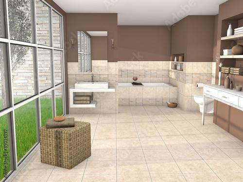 3d design badezimmer bathroom stockfotos und lizenzfreie bilder auf bild. Black Bedroom Furniture Sets. Home Design Ideas
