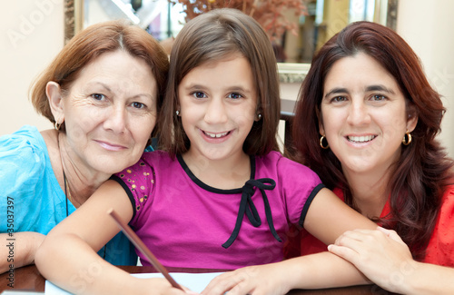 Three generations of latin women