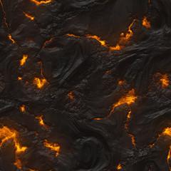 Seamless magma or lava texture