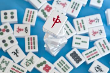stack of mahjong tiles