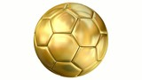 Golden soccer ball and alpha clip -1080p loop