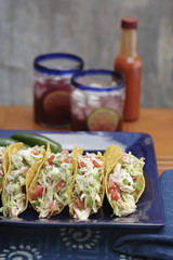 Chicken tacos and sangria